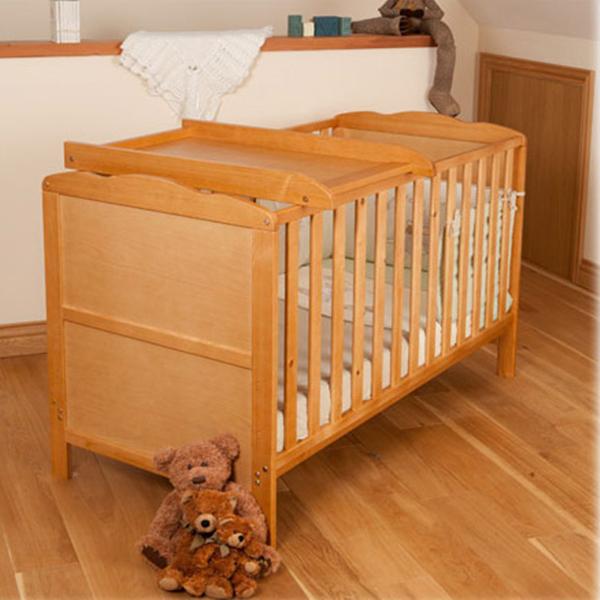 Portable Wooden Baby Crib